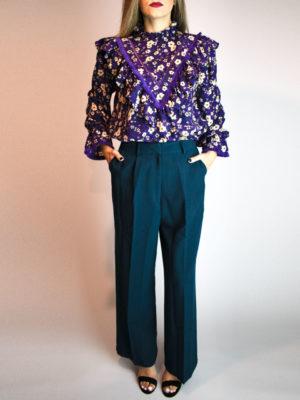 Orion London Mila Tassel Blouse Purple