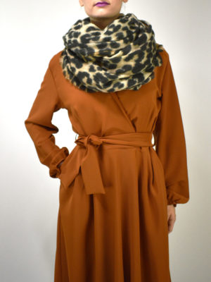 See u Soon Animal Print Scarf.