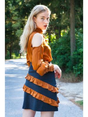 Ananke Melia Striped Skirt