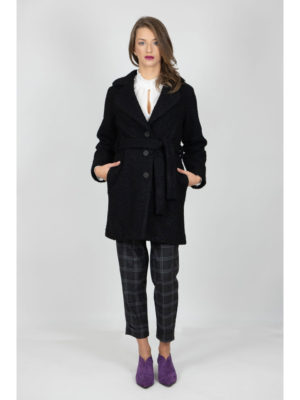 Chaton Black Overcoat