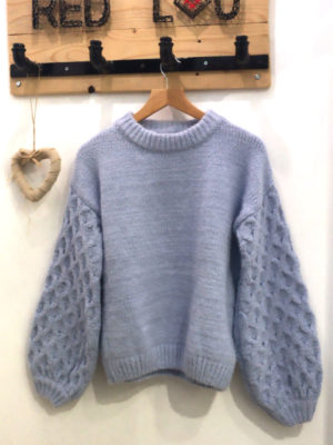 Milkwhite Sweater Light Blue