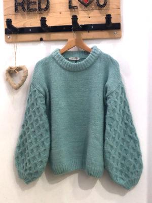 Milkwhite Sweater Mint
