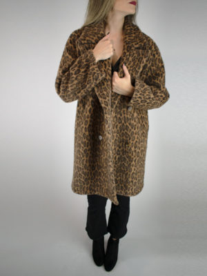 See U Soon Animal Print Overcoat