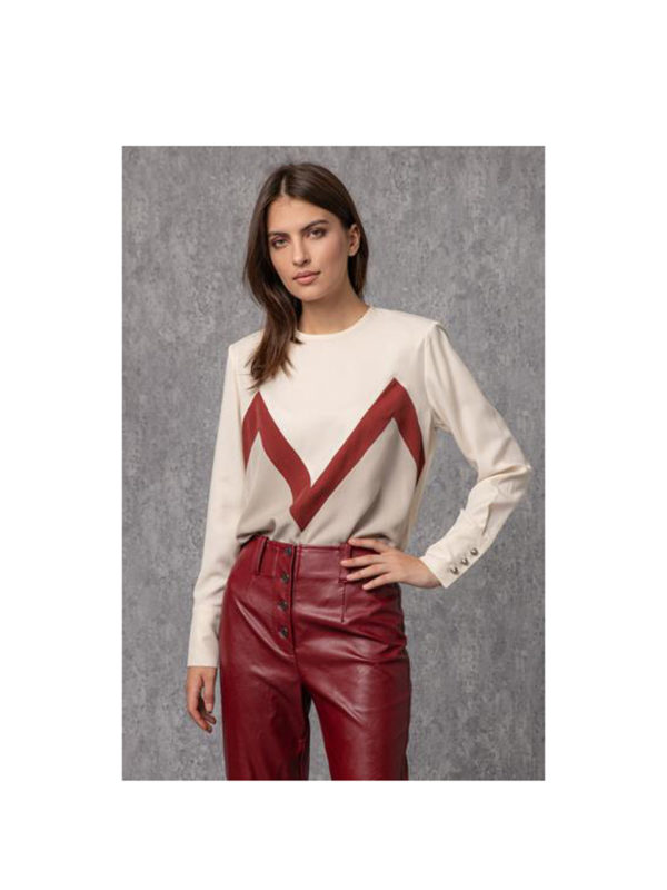 Arpyes Margaux Red Blouse