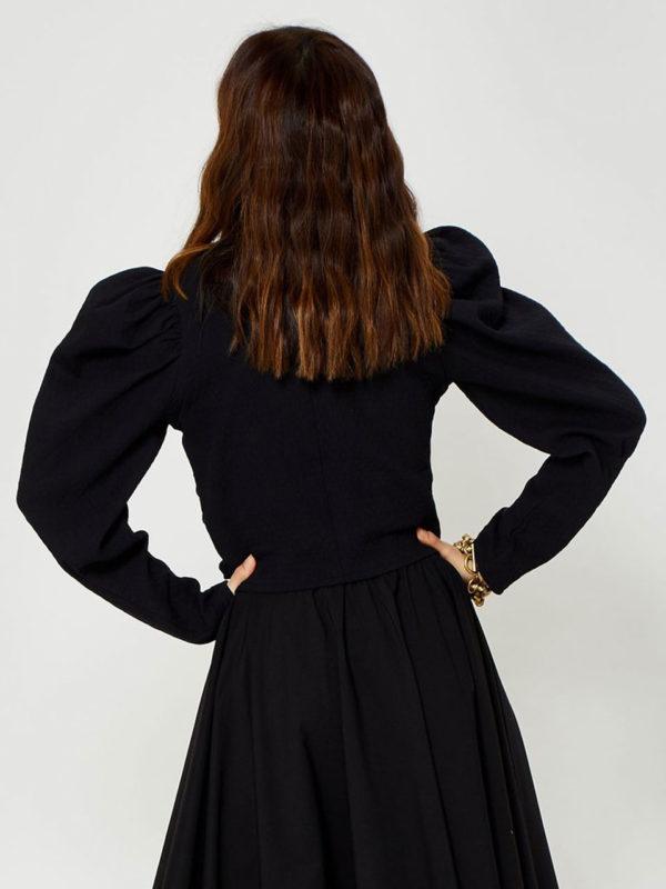 Ghospell Black Blouse