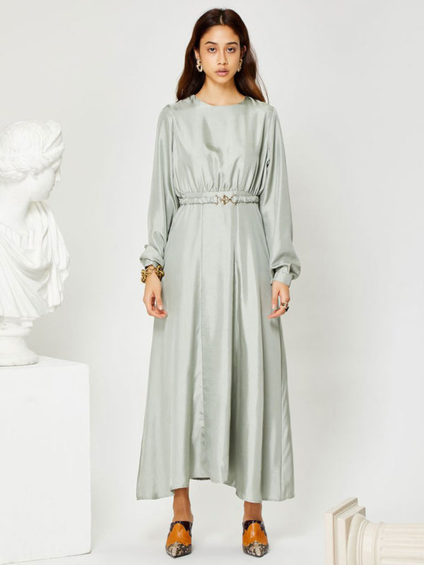 Ghospell Marbel Midi Dress