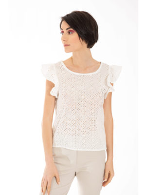 Chaton Daisy Top with Frills