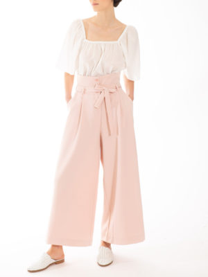 Chaton High Waisted Pants Nude