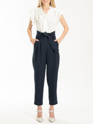 Chaton Pants With Pleats Navy