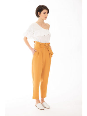 Chaton Pants with Pleats