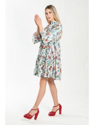 Chaton Rose Dress White
