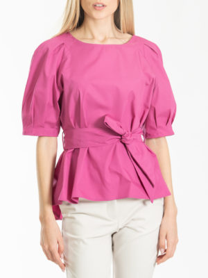 Chaton Top With Belt Fuchsia