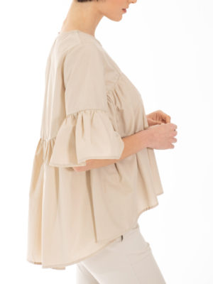 Chaton Top With Frills Beige