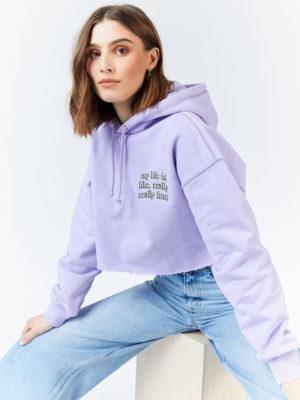 Dr denim Lavender Hoodie