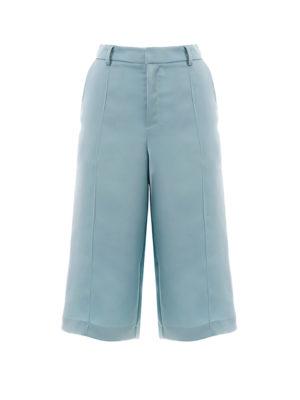Milkwhite Glossy Long Shorts