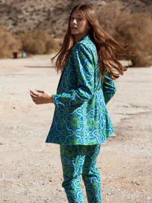 Nabila printed blazer