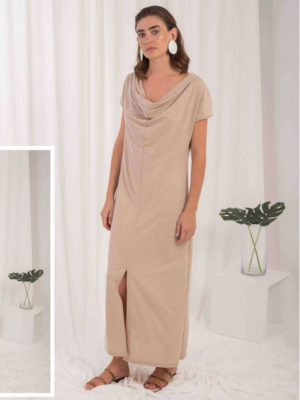 Ofilia's Beige Maxi Dress