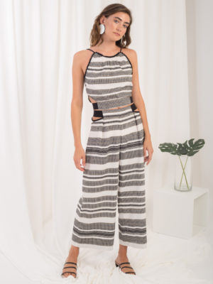 Ofilia's Cut Out Belted Pants