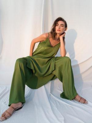 Ofilia's Slip Dress Green