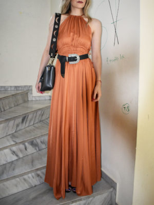 Arpyes Cantarito Terracotta Dress