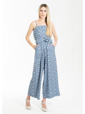 Chaton Jumpsuit Floral Blue