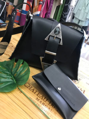 "Individual ""Dance monkey"" Black Shoulder Bag"