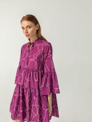 THE KNLs Giornata Dress Magenta