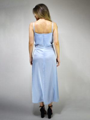 Milkwhite Glossy Dress Baby Blue