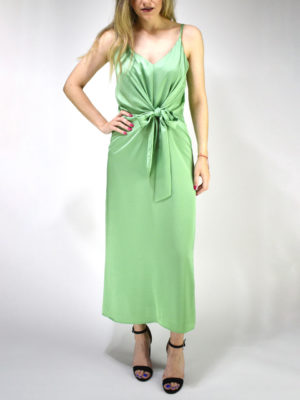 Milkwhite Glossy Dress Green