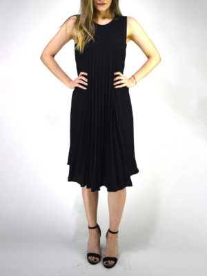 Orion London Pleated Dress Black
