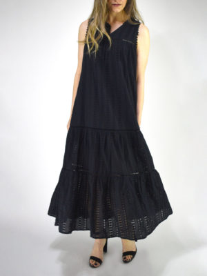 See U Soon Black Long Kippur Dress