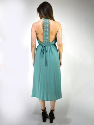 See U Soon Open Back Dress Mint