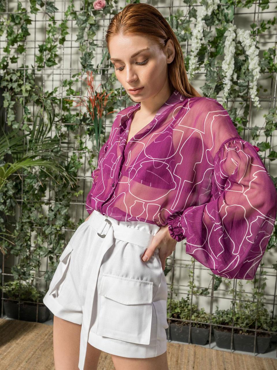 The KNLs Mosaic Shirt Magenta