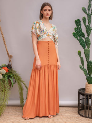 Arpyes Big Bamboo Skirt Terracotta