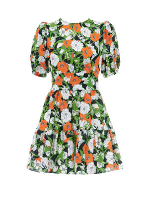 Milkwhite Orange Floral Dress