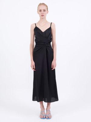 Milkwhite Glossy Dress Black