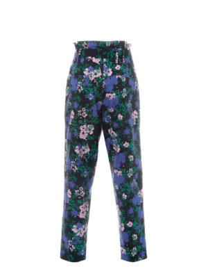 Milkwhite Pants Black Floral