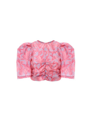 Milkwhite Short Sleeves Top Pink