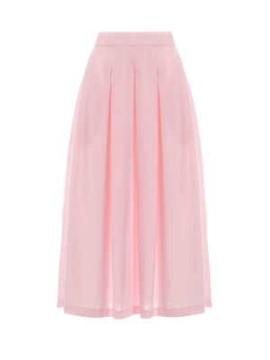 Milkwhite Midi Cotton Skirt Pink
