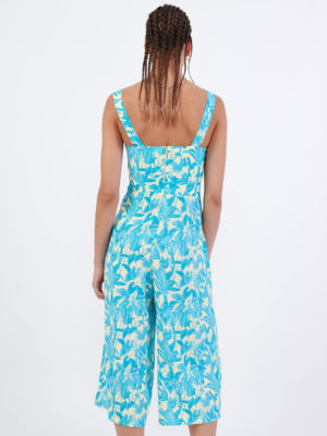 Milkwhite Printed Jumpsuit With a Cut-out Detail