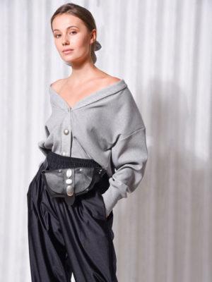 Arpyes X Individual Art Leather Beltbag Black