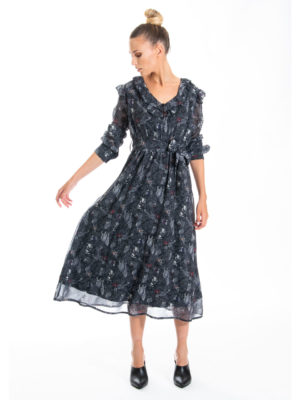 Chaton Jack forest dress Black