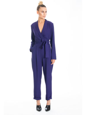 Chaton Runway jumpsuit Blue Mauve