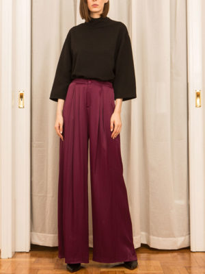 Ofilia's Wild Cherry Wide Legs Pants