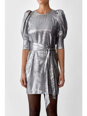 Twist & Tango Edie Dress Silver Metallic