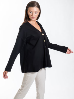 Chaton Doris Cardigan Black