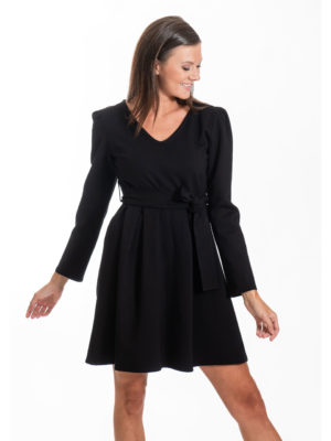 Chaton Doris Short Dress Black