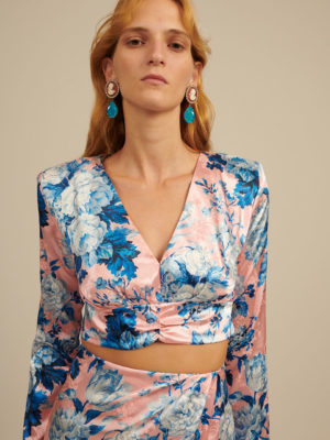 Milkwhite Glossy Top Floral