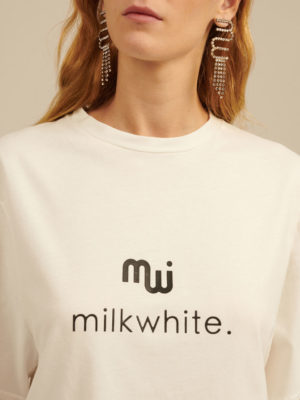 Milkwhite MW Logo T–Shirt