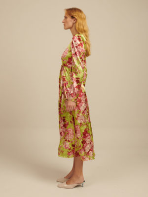 Milkwhite Printed Dress